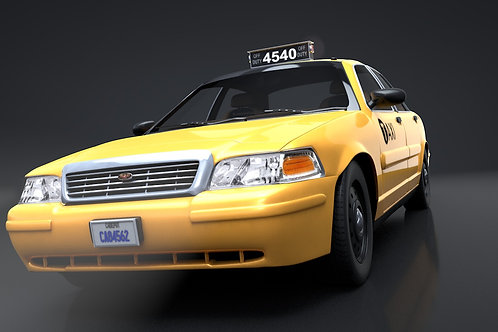 Crown Vic Taxi_V10_C4D Rigged