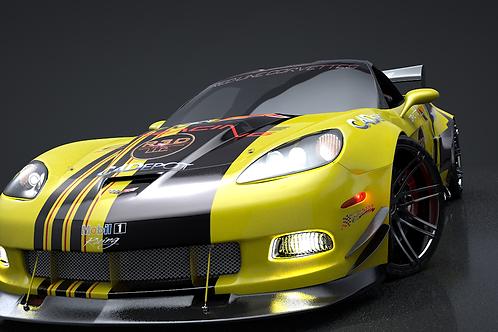 C6R Racing Corvette_3D Model Rigged C4D