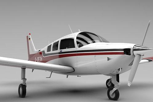 Beechcraft C-23 Sundowner_V6_3D Model