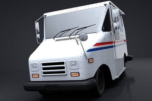 Mail Truck_V5_C4D Rigged
