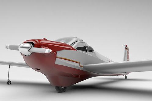 Scheibe Falke SF-25_V4 3D Model
