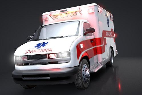 Ambulance Box Truck_V5_C4D Rigged