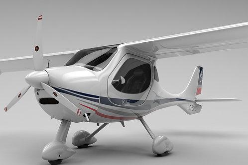 Flight Design CTSL_V9_C4D Rigged