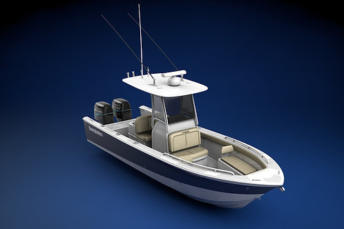 Everglades 273 Sport Fishing Boat_3D Model