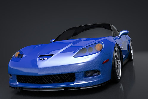 Chevrolet C6 Corvette Z06_C4D Rigged