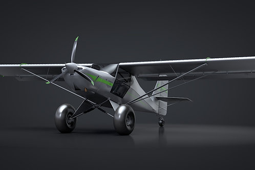 Kit Fox Titan STI S7_Bushplane_3D Model_V14_C4D Rigged