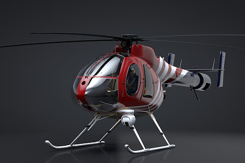 MD-540N NOTAR_3D Model_Rigged C4D