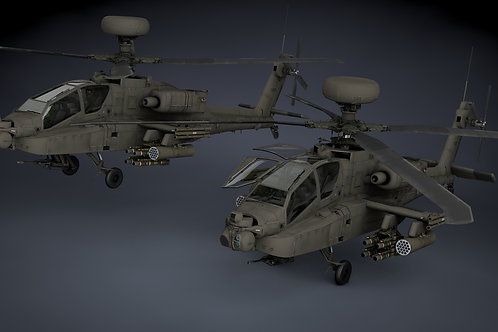 AH-64D Apache Longbow Helicopter 3D Model