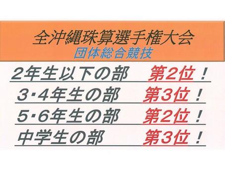 2017年度 全沖縄珠算選手権大会へ参加。
