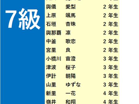 2018年5月度「珠算級位」検定試験 合格発表。