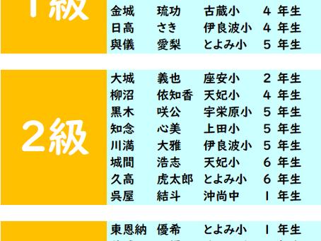 第404回 2021年7月度「そろばん級位」検定試験 合格発表。