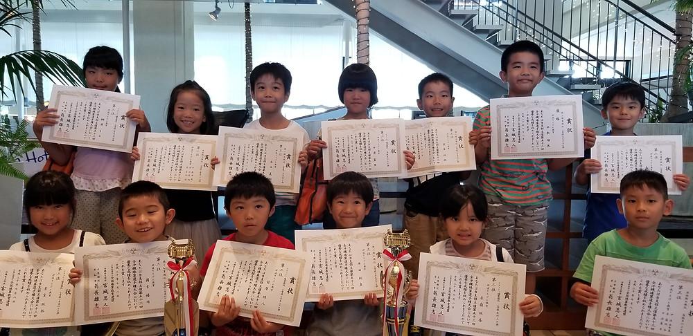 全沖縄珠算選手権 2年生以下の部 伊波そろばん教室