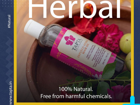 Product Shoot And Creatives Design For Tapta Herbal hair oil