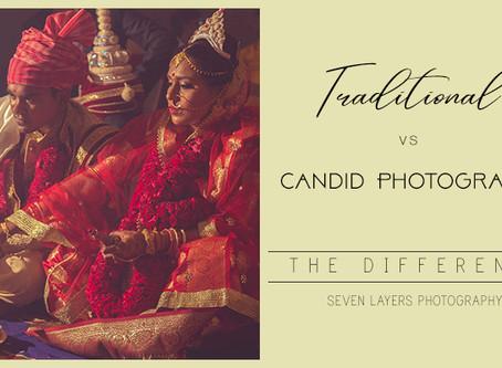 Traditional vs Candid Wedding photography