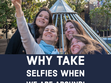 Why take selfies when we are around?