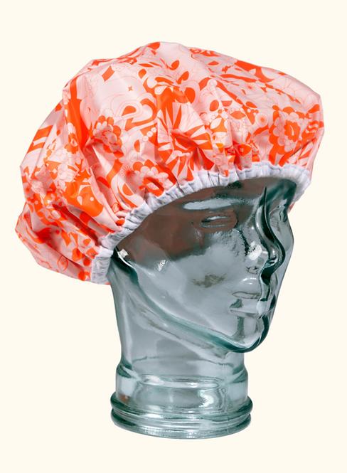 Amika Pink Signature Print Shower Cap