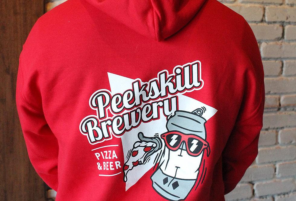 PB Pizza Red Hoodie