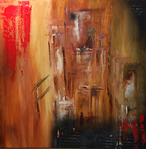 """Creme"" Acryl auf Leinwand - 2016 - 100 x 100"