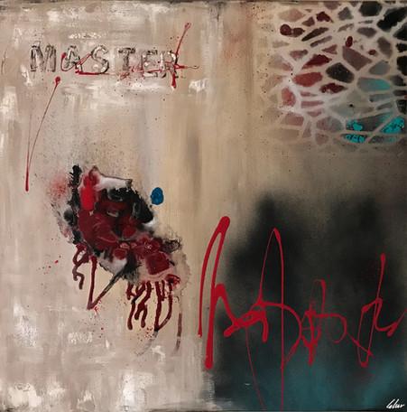 """Master"" acrylic on canvas - 2017 - 80 x 80"