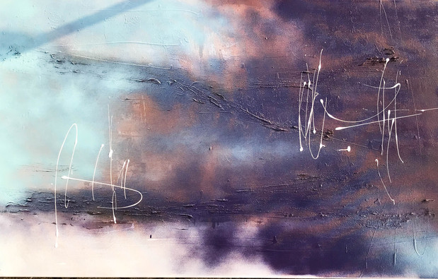 """Blue II"" acrylic on canvas - 2018 - 100 x 50 (sold)"