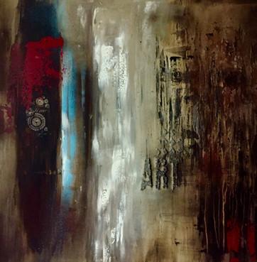 """Art"" acrylic on canvas - 2017 - 80 x 80"