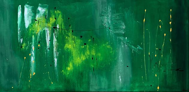 """Green II"" acrylic on canvas - 2018 - 100 x 50 (sold)"