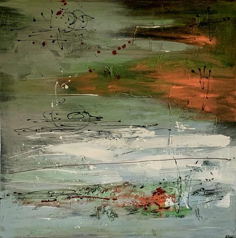 """Los Angeles"" Acryl auf Leinwand - 2020 - 80 x 80"