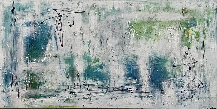 """""""Spring"""" acrylic on canvas - 2021 - 100 x 50"""