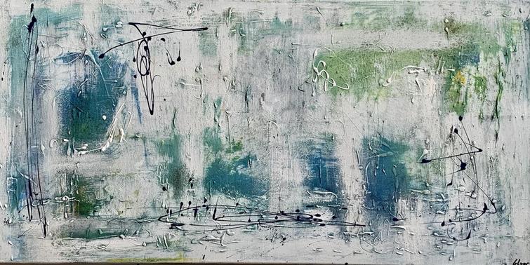 """Spring"" Acryl auf Leinwand - 2021 - 100 x 50"