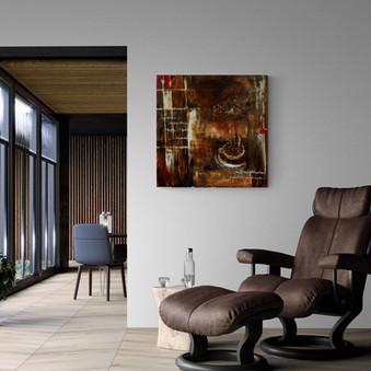 """""""Café Grande"""" - 2017 - 100 x 100 (Dauerausstellung Rupperswil)"""