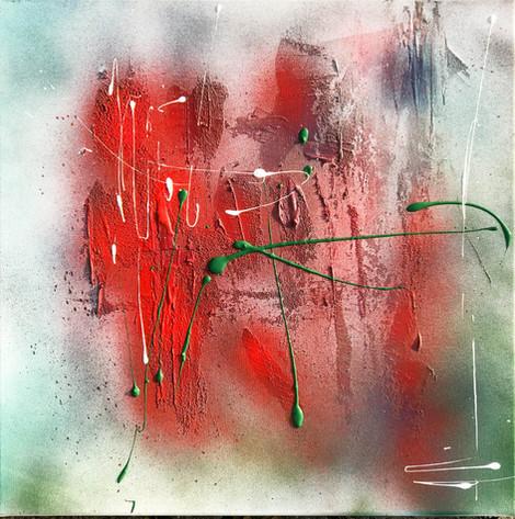 """Red"" Acryl auf Leinwand - 2018 - 50 x 50"