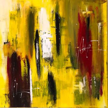 """Yellow"" Acryl auf Leinwand - 2018 - 100 x 100"