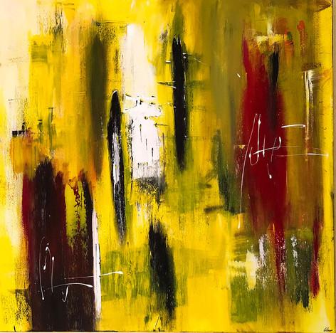 """Yellow"" acrylic on canvas - 2018 - 100 x 100"