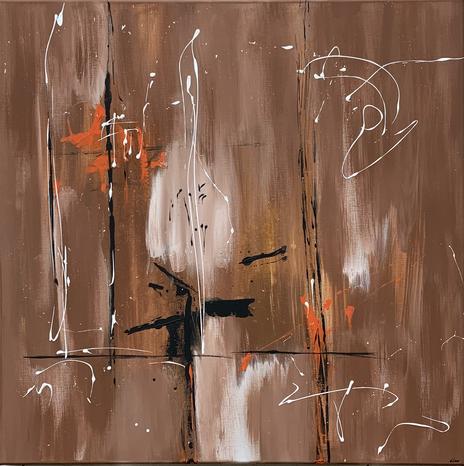 """Joy"" - 2021 - 80 x 80cm"
