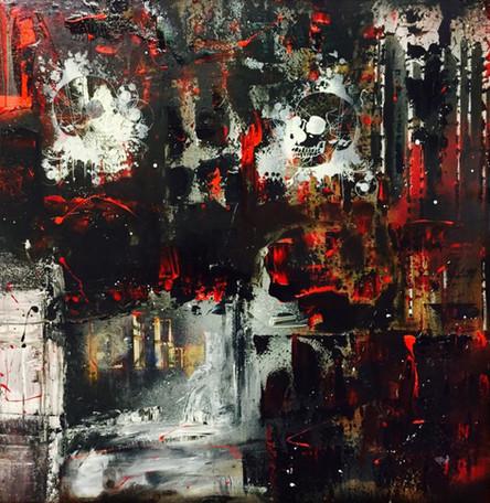 """Room"" acrylic on canvas - 80 x 80 (sold)"