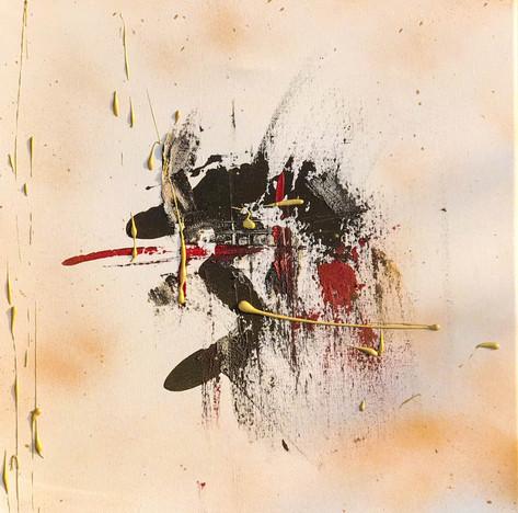 """Snowboard"" acrylic on canvas - 2018 - 50 x 50 (sold)"