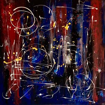 """Circle"" acrylic on canvas - 2020 - 80 x 80 (sold)"