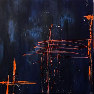 """B / O"" acrylic on canvas - 2018 - 80 x 80 (sold)"