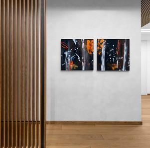 """Star I&II"" - 2021 - 2 x 40 x 40cm  (vergriffen)"