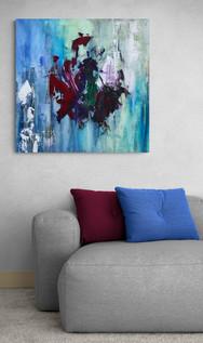 """""""Dragon"""" Acryl auf Leinwand - 2018 - 80 x 80"""