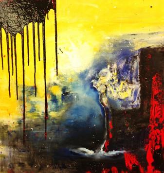"""""""Eddie"""" acrylic on canvas - 2014 - 80 x 80"""