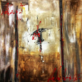 """Main"" acrylic on canvas - 2016 - 100 x 100 (sold)"