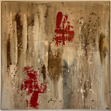 """""""Gottardo"""" Acryl auf Leinwand - 2020 - 80 x 80"""