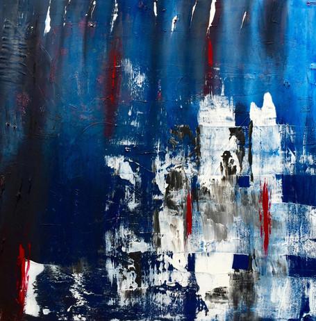 """Ocean"" Acryl auf Leinwand - 2015 - 80 x 80 (vergriffen)"