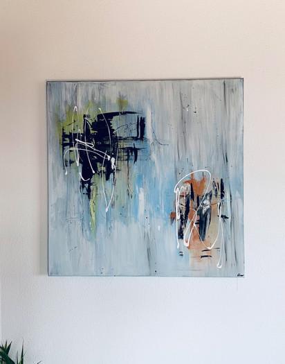 """Gentle"" Acryl auf Leinwand - 2021 - 80 x 80"