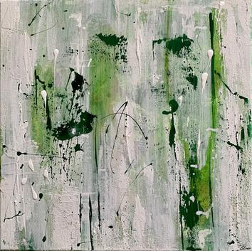 """""""Eyes"""" - 2021 - 40 x 40cm (ausgestellt in Baden)"""