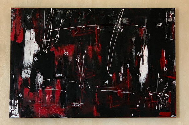"""""""Abyss"""" customer order - acrylic on canvas - 2020 - 120 x 80"""