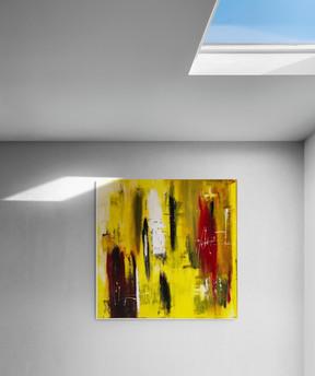 """""""Yellow"""" - 2018 - 100 x 100"""