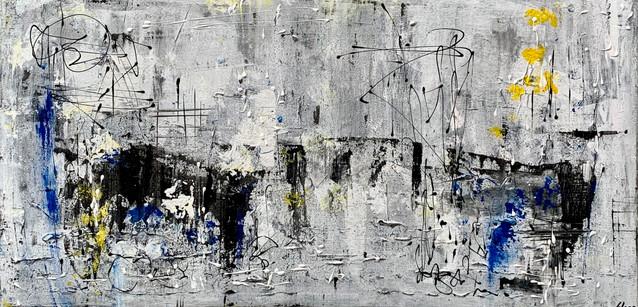 """""""The bridge"""" Acryl auf Leinwand - 2021 - 100 x 50 (vergriffen)"""
