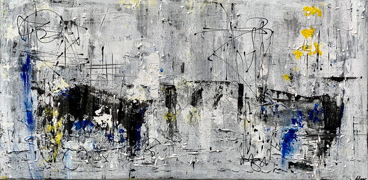 """The bridge"" acrylic on canvas - 2021 - 100 x 50"